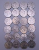 A large collection of British Commemorative coins.