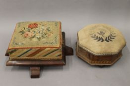 Two Victorian foot stools.