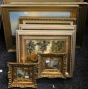 A quantity of various pictures, mirrors, books and a ceiling light, etc.