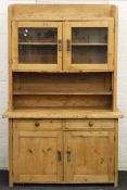 A 19th century Continental pine dresser. 132 cm wide x Approximately 205 cm high.