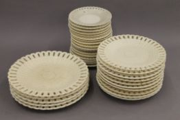 A quantity of 19th century Continental Creamware plates, possibly Vienna.