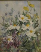 THELMA LONG, Still Life of Flowers, oil on board, framed. 39 x 50 cm.