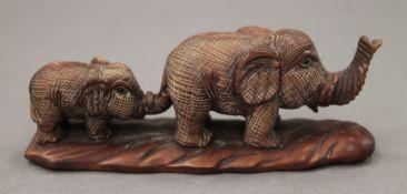 A Japanese elephant group. 11 cm long.