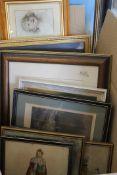 A quantity of various prints.