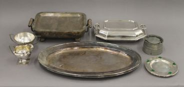 A quantity of various silver plate.