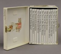 A quantity of vintage Beatrix Potter Peter Rabbit and My Library sets of children's books.