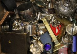 A large quantity of silver plate, brass, etc.