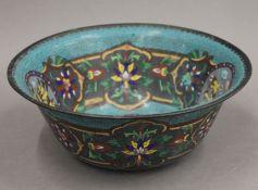 A cloisonne bowl. 26 cm diameter.