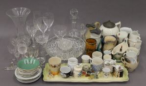 A large quantity of miscellaneous ceramics and glass