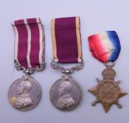 A British Military three medal group relating to R A Death comprising of a George V Long Service