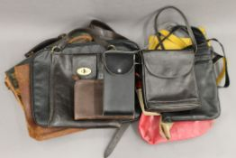 A vintage Mulberry handbag; together with a quantity of other handbags, including Radley.