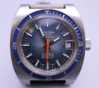 An Oriosa Divers wristwatch with strap. 3.5 cm wide.