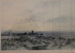 COLIN BURNS, Stream Before a Windmill, limited edition print, numbered 493/500, signed to margin,