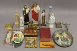 A quantity of various religious items