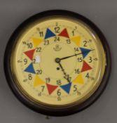 A fusee dial clock. 38 cm diameter.