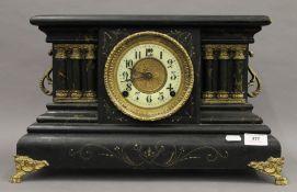A 19th century W L Gilbert Clock Company pillared mantle clock. 46 cm wide.