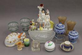 A quantity of miscellaneous ceramics, glass, etc.