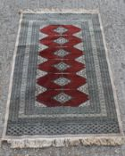 An Afghan carpet.