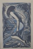 JOHN BUCKLAND-WRIGHT, Woodcut for 'Image', dated 1950, inscribed label to reverse,