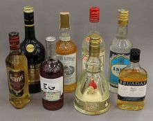 A quantity of various bottles of spirits.