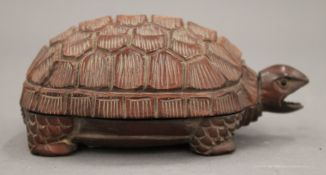 A Japanese box formed as a tortoise. 11 cm long.