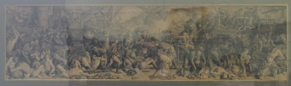 19TH CENTURY, Death of Nelson, lithograph, framed and glazed. 137 x 60 cm.