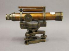 A brass theodolite. 13 cm high.