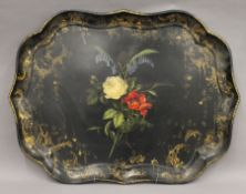 A Jennens and Bettridge (Makers to the Queen) papier mache tray. 80 cm wide.