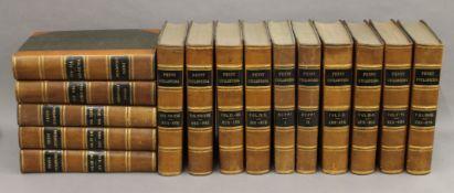 Fifteen volumes of Penny Cyclopedia, 1838, bindings.