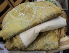 A quantity of various linen, vintage curtains, etc.