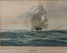 WILFRED KNOX RBA (1884-1966) British, In Home Waters, watercolour, signed and dated 1919,