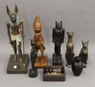 A quantity of Egyptian figures