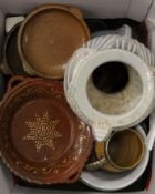 A quantity of pottery and porcelain, including Poole.