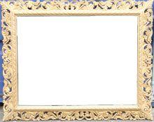 A large gilt framed mirror. 150 x 120 cm.