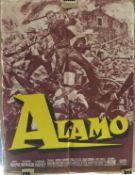 THE ALAMO, French 1960s film poster - John Wayne, Richard Widkmark, Laurence Harvey. 57.5 cm x 77.