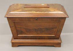 A 19th century mahogany cellaret. 77.5 cm wide.