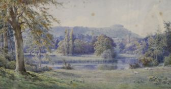 E H MORTON, Mysterious Chanctonbury, West Sussex, watercolour, signed, framed and glazed.