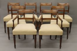 A set of eight 19th century mahogany dining chairs.