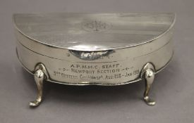 An early 20th century silver trinket box with Almeric Paget Military Massage Corps silver