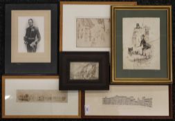 A quantity of framed prints and photographs