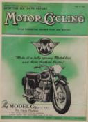 Four framed Matchless Motorcycle adverts. 30 x 38 cm overall.