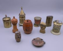 A collection of Victorian vesta cases