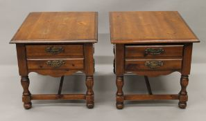 A pair of modern bedside drawers. Each 55 cm wide.