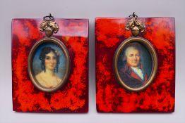 A pair of miniatures. Each 9.5 cm wide.