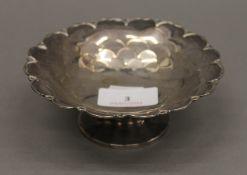 A Mappin and Webb silver bon-bon dish. 12.5 cm diameter.