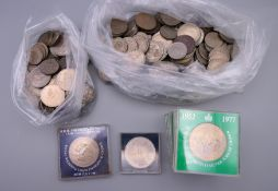 Approximately a kilo of post war British coinage
