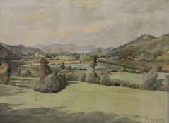 G SUTCLIFFE, Abberley Hills, Worcestershire, watercolour, signed and dated 1909, framed and glazed.
