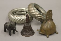 A small collection of various Indian and Ethnographic metalware.
