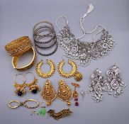 A collection of Indian wedding jewellery.