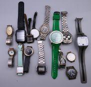 A bag of various wristwatches